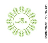natural logo with green leaves  ... | Shutterstock .eps vector #790782184