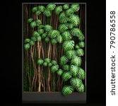 3d illustration vertical... | Shutterstock . vector #790786558