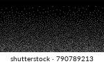 silver shine of confetti on a... | Shutterstock .eps vector #790789213