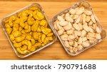 varieties of nuts  cashew with... | Shutterstock . vector #790791688