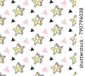 fashionable stars vector kids... | Shutterstock .eps vector #790796038