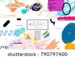 abstract universal art web... | Shutterstock .eps vector #790797400