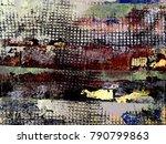 abstract bitmap background.... | Shutterstock . vector #790799863