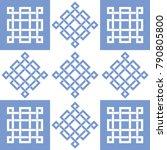 seamless oriental knot pattern...   Shutterstock .eps vector #790805800