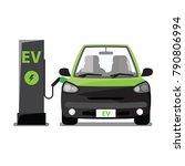 electric vehicle   ev station | Shutterstock .eps vector #790806994