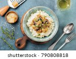 risotto with chicken and... | Shutterstock . vector #790808818