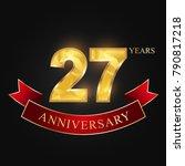 27 years anniversary... | Shutterstock .eps vector #790817218