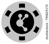 bitconnect black casino chip...   Shutterstock . vector #790829170
