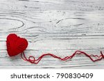 heart in the form of a string... | Shutterstock . vector #790830409