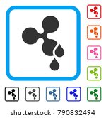 ripple blood drops icon. flat...