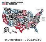 poster map of united states of... | Shutterstock .eps vector #790834150