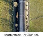 electric railway crossing... | Shutterstock . vector #790834726