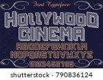 font alphabet script typeface... | Shutterstock .eps vector #790836124
