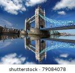 famous tower bridge in london ...   Shutterstock . vector #79084078