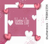 valentines day background. | Shutterstock .eps vector #790841554