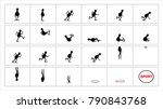 athlete running and sporting | Shutterstock .eps vector #790843768