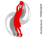 basketball player in action... | Shutterstock .eps vector #790844839