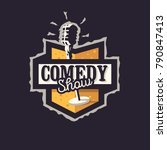 Comedy Show Logo Badge Emblem...