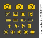 photography set   variety of... | Shutterstock .eps vector #790847578