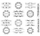 set of vector vintage frames on ...   Shutterstock .eps vector #790848814