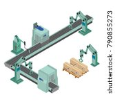 automated factory assembly line ... | Shutterstock .eps vector #790855273