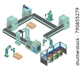 automated factory assembly line ... | Shutterstock .eps vector #790855279