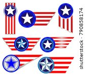 american symbols set of red... | Shutterstock .eps vector #790858174