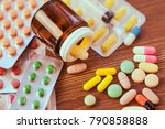 drug prescription for treatment ... | Shutterstock . vector #790858888