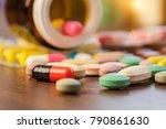 drug prescription for treatment ... | Shutterstock . vector #790861630