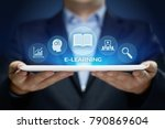 e learning education internet... | Shutterstock . vector #790869604