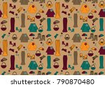 fashion seamless pattern. ... | Shutterstock .eps vector #790870480