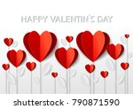 greetings card for valentine's... | Shutterstock .eps vector #790871590