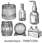 distillery set that makes hard... | Shutterstock .eps vector #790871596