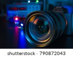 photo camera or video lens... | Shutterstock . vector #790872043