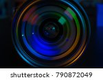 photo camera or video lens... | Shutterstock . vector #790872049