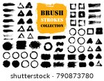 brush strokes text boxes.... | Shutterstock .eps vector #790873780