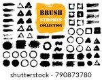 brush strokes text boxes....   Shutterstock .eps vector #790873780