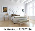 idea of a white scandinavian... | Shutterstock . vector #790875994