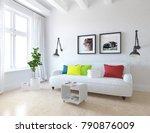 idea of a white scandinavian... | Shutterstock . vector #790876009