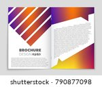 abstract vector layout... | Shutterstock .eps vector #790877098