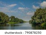 canal in danube delta | Shutterstock . vector #790878250
