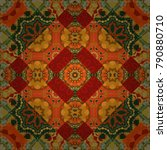 round seamless pattern ornament ... | Shutterstock .eps vector #790880710