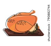 roast chicken design | Shutterstock .eps vector #790882744