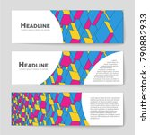 abstract vector layout... | Shutterstock .eps vector #790882933