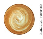 top view of hot coffee... | Shutterstock . vector #790885360