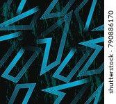 grunge neon seamless bright... | Shutterstock .eps vector #790886170