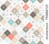 vector seamless pattern of... | Shutterstock .eps vector #790888729