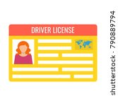 car driver license... | Shutterstock .eps vector #790889794