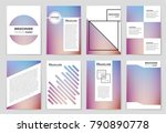 abstract vector layout... | Shutterstock .eps vector #790890778