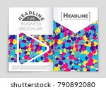 abstract vector layout... | Shutterstock .eps vector #790892080